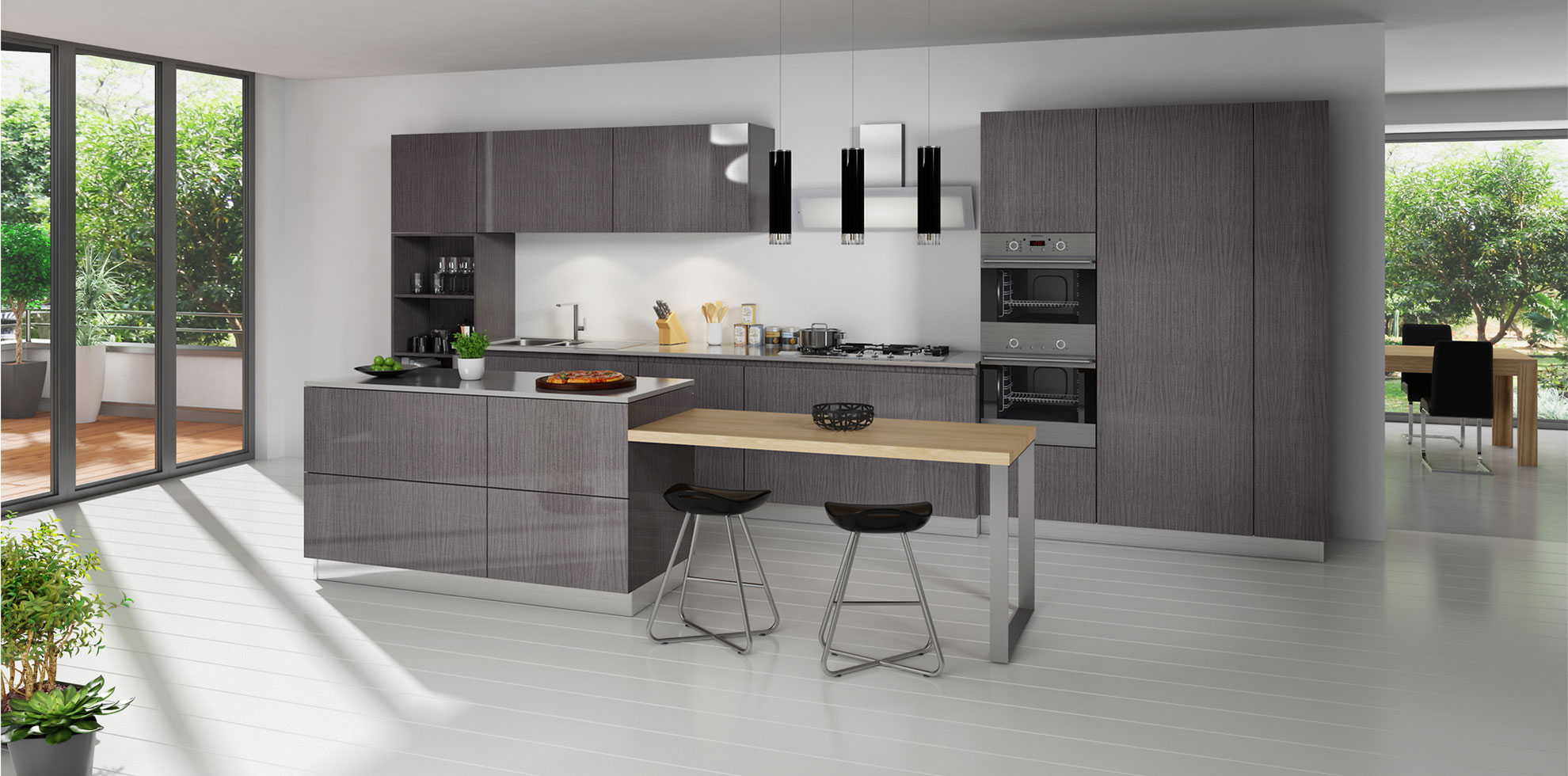 Grey Oak Alba Kitchen