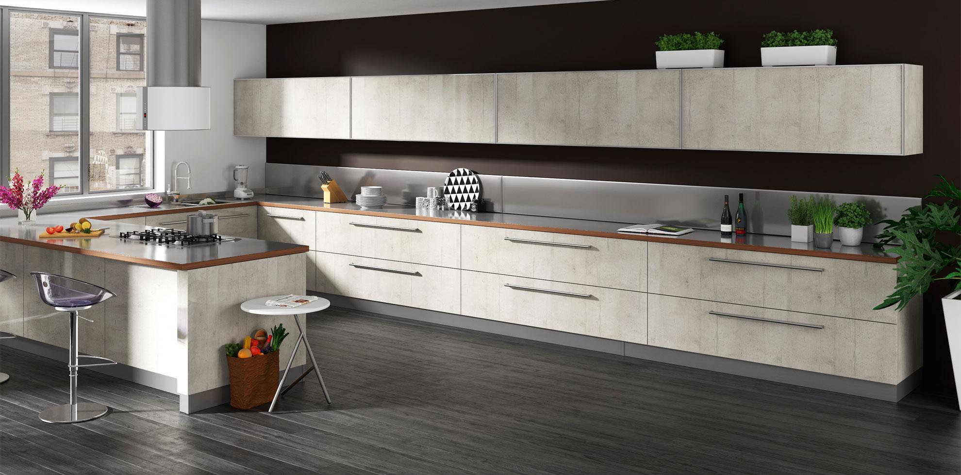 White Concrete Alba Kitchen